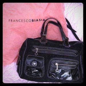 Pradaesque Francesco Biasia Black satchel